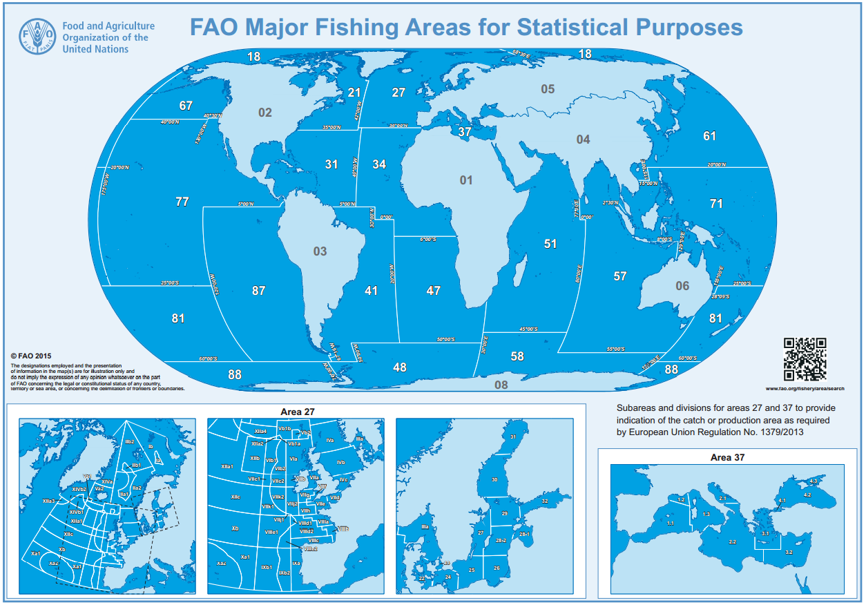 Zone FAO pesca